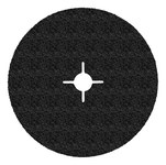 3M 501C Alumina Zirconia Black Quick Change Fibre Disc - Fibre Backing - 36 Grit - 7 in Diameter - 5/8-11 Center Hole - 86735
