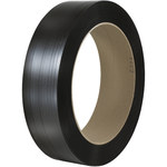 Black Poly Strapping - 9000 ft x 0.4375 in - SHP-7228