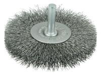Weiler Steel Radial Bristle Brush - 3 in Outside Diameter - 0.008 in Bristle Diameter - 17964