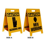 Brady B-836 Polypropylene Rectangle Yellow Floor Stand Sign - 12 in Width x 20 in Height - 92281