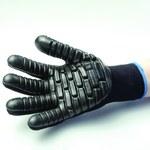 Impacto Blackmaxx VI473 Black Large Cotton/Nylon Work Gloves - Chloroprene Palm & Fingers Coating - VI473240