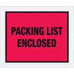 Shipping Supply Tape Logic Red Packing List Enclosed Envelopes - 10 in x 12 in - 2 mil Thick - SHP-11606