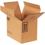 Shipping Supply Kraft 1 Gallon F-Style Boxes - 13.75 in x 9 in x 10.375 in - SHP-2218
