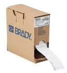 Brady Permasleeve PSBXP-111-125 White Polyolefin Die-Cut Thermal Transfer Printer Sleeve - 1 in Width - 0.235 in Height - 0.046 in Min Wire Dia to 0.11 in Max Wire Dia - B-342