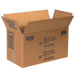 Shipping Supply Kraft 1 Gallon Paint Can Boxes - 17 in x 8.5 in x 9.3125 in - SHP-2226