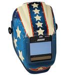 Jackson Safety Stars & Scars Welding Helmet - Auto-Darkening Lens - 3.93 in Viewing Width - 2.36 in Viewing Height - 036000-46101