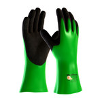 PIP ATG MaxiChem 56-635 Black/Green Large Lycra/Nitrile Supported Chemical-Resistant Gloves - 14 in Length - 1.3 mm Thick - 56-635/L