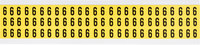 Brady 34 Series 3410-6 Black on Yellow Vinyl Cloth Number Label - Indoor - 11/32 in Width - 1/2 in Height - 3/8 in Character Height - B-498