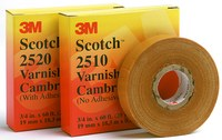 3M Scotch 2520 Yellow Insulating Tape - 1 in Width x 36 yd Length - 8 mil Thick - Electrically Insulating - 04833