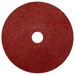 Weiler Coated Aluminum Oxide Fiber Disc - Fiber Backing - 80 Grit - Medium - 4 in Diameter - 5/8 in Center Hole - 59495