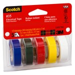 3M Scotch 10457 Multi-Color Electrical Marking Tape #35 - 1/2 in Width x 240 ft Length - 7 mil Thick - 59073