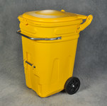 Eagle Yellow HDPE Waste Cart - 30 in Width - 26 in Length - 44 in Height - 048441-00878