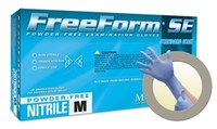 Microflex Freeform SE FFS-700 Blue Large Powder Free Disposable Gloves - Medical Grade - 9.5 in Length - Rough Finish - 3.5 mil Thick - FFS-700-L