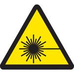 Brady 60198 Black on Yellow Triangle Vinyl Laser Hazard Label - 1 in Width - 1 in Height - B-946