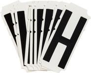 Brady Quik-Align 6500-H Black Vinyl Letter Label - Outdoor - 3 in Height - 3 in Character Height - B-933