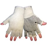 Global Glove S52NFD Natural Universal Cotton/Polyester Work Glove - PVC Dotted Palm & Fingers Coating - Rough Finish - S52NFD1