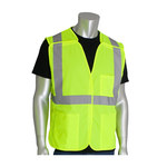 PIP Lime Yellow Small Polyester Mesh High-Visibility Vest - 3 Pockets - Fits 45 in Chest - 27 in Length - 616314-20484