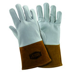 West Chester 6141 Off-White Large Grain, Split Cowhide Leather Welding Glove - Straight Thumb - 12.125 in Length - 6141/L
