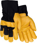 Red Steer 56360 Black Large Grain Pigskin Canvas/Leather Driver's Gloves - Wing Thumb - 56360-L