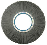 Weiler Silicon Carbide Wheel Brush 0.04 in Bristle Diameter 80 Grit - Arbor Attachment - 14 in Outside Diameter - 5 1/4 in Center Hole Size - 83950