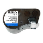 Brady M-125-461 Black on Clear / White Polyester Die-Cut Thermal Transfer Printer Cartridge - 1.75 in Width - 1 in Height - B-461