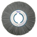 Weiler Silicon Carbide Wheel Brush 0.04 in Bristle Diameter 80 Grit - Arbor Attachment - 8 in Outside Diameter - 2 in Center Hole Size - 83180