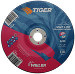 Weiler TIGER Concave (Type 28) Aluminum Oxide Grinding Wheel - 24 Grit - 7 in Diameter - 7/8 in Center Hole - 1/4 in Thick - 57135