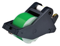 Brady 142767 White on Green Vinyl Continuous Thermal Transfer Printer Label Cartridge - 2 1/4 in Width - 90 ft Length - B-595