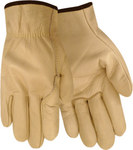 Red Steer 1545 White Large Grain Cowhide Kevlar/Leather Driver's Gloves - Wing Thumb - 1545-L