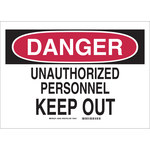 Brady Rectangle White Restricted Area Sign - 26436
