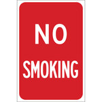Brady B-959 Aluminum Rectangle Red No Smoking Sign - 115622