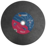 Weiler TIGER A/O Aluminum Oxide AO Cutting Wheel - Type 1 (Straight) - 14 in Diameter - 1 in Center Hole - 3/32 in Thickness - 57092