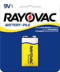 Rayovac Heavy Duty Standard Battery - Single Use Zinc Chloride 9V - D1604-1F