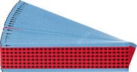 Brady EIA-3025-RD Red on Black Vinyl Cloth Printed Inspection Arrow - 0.3 in Width - 1/4 in Height - B-500