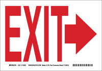 Brady B-586 Paper Rectangle White Exit Sign - 10 in Width x 7 in Height - 115922