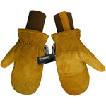 Global Glove 594MIT Brown Large Split Cowhide Leather Cold Condition Gloves - Thinsulate Insulation - 594MIT/LG