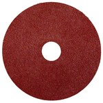 Weiler Coated Aluminum Oxide Fiber Disc - Fiber Backing - 80 Grit - Medium - 5 in Diameter - 7/8 in Center Hole - 59507