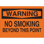 Brady B-302 Polyester Rectangle Orange No Smoking Sign - 10 in Width x 7 in Height - Laminated - 88402