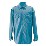 Chicago Protective Apparel Large 6 oz Flame-Resistant Shirt - 625-FR9B-MB LG