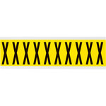 Brady 34 Series 3440-X Black on Yellow Vinyl Cloth Letter Label - Indoor - 7/8 in Width - 2 1/4 in Height - 1 15/16 in Character Height - B-498