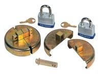 Justrite Master Lock Zinc Drum Plug Locking Device - 55 gal Plastic Drum Compatibility - 697841-13222