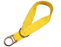 DBI-SALA Yellow Polyester Webbing Tie-Off Adaptor - Single D-Ring - 3 in Width - 6 ft Length - 840779-00008