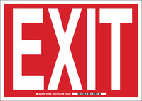Brady B-302 Polyester Rectangle Red Exit Sign - 10 in Width x 7 in Height - Laminated - 84671