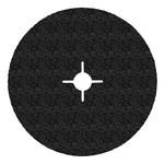 3M 501C Coated Alumina Zirconia Black Fibre Disc - Fiber Backing - 24 Grit - Very Coarse - 4 1/2 in Diameter - 7/8 in Center Hole - 50409