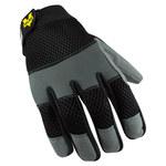 Valeo V130 Black/Gray Large Polyester/Synthetic Leather Mechanic's Gloves - VI4841LG