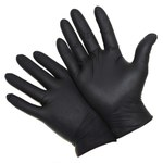 West Chester Posishield Black Large Powder Free Disposable Gloves - Food, Industrial Grade - 9.4 in Length - Rough Finish - 4 mil Thick - 2920/L