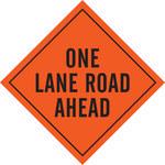 Brady Mesh Diamond Orange Road Construction Sign - 48 in Width x 48 in Height - 57001