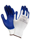 Ansell Hyflex 11-900 Blue/White 7 Nylon Work Gloves - Nitrile Palm Only Coating - 205622