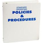 Brady Blue on White MSDS & GHS Data Sheet Binder - STANDARD OPERATING POLICIES & PROCEDURES - English - 754476-45320