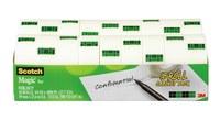 3M Scotch 810K18CP Magic Clear Office Tape - 3/4 in Width x 1000 in Length - 02709